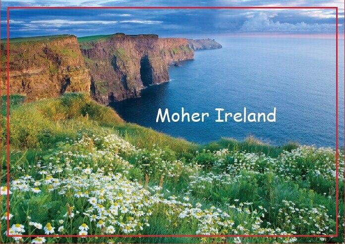Tourist souvenir Refrigerator Magnets memories,Cliffs Of Moher in Ireland Tourist Rigid Magnets 20666