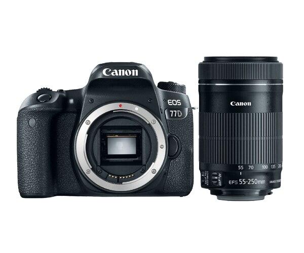 Canon 77D DSLR Camera Body & EF-S 55-250mm f/4-5.6 IS STM Lens