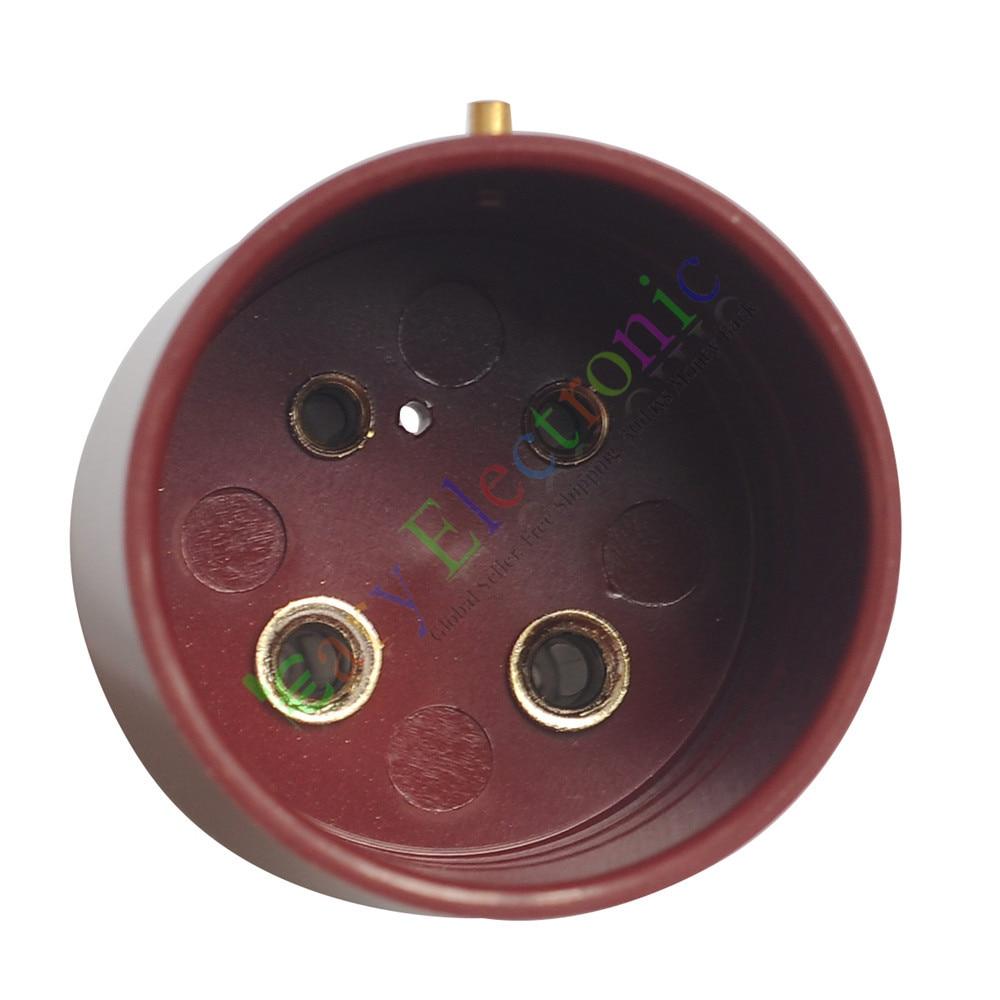 Al por mayor y al por menor 2pc 4pin Red baquelita zócalos de tubo de vacío base de la válvula para U4A 300B 811 audio amp envío gratis