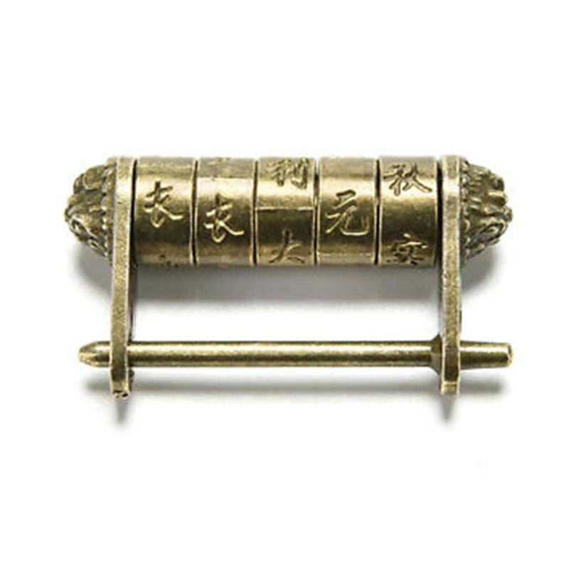 Античный Cipher Висячий замок 1 шт. китайский старинный античный пароль латунный резной замок/ключ подарок