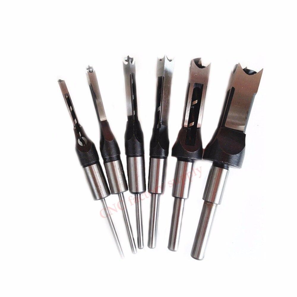 10mm/16mm agujero cuadrado métrico Mortiser broca cincel Mortising carpintería taladro eléctrico cortador herramienta Mayitr 1/2 3/8 1/4