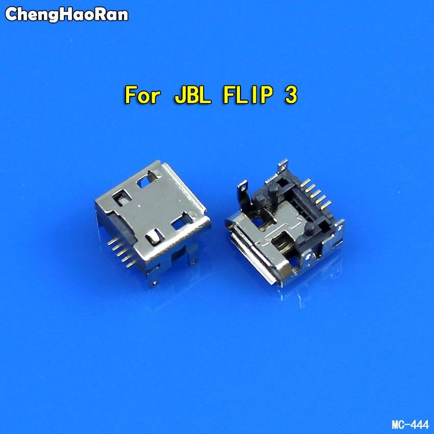 ChengHaoRan 5 piezas para JBL Charge FLIP 3 Bluetooth altavoz hembra 5 pin tipo B Micro mini USB puerto de carga jack conector hembra