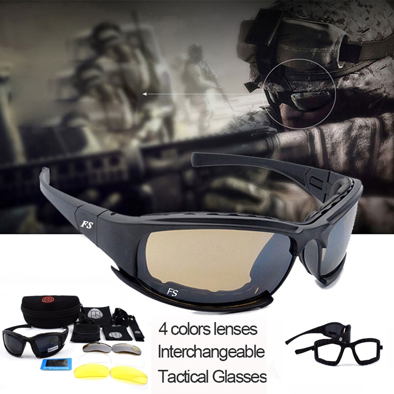 Tactical X7 Polarized Glasses Military Shooting Airsoft Paintball Safety Goggles Outdoor Hunting Sun