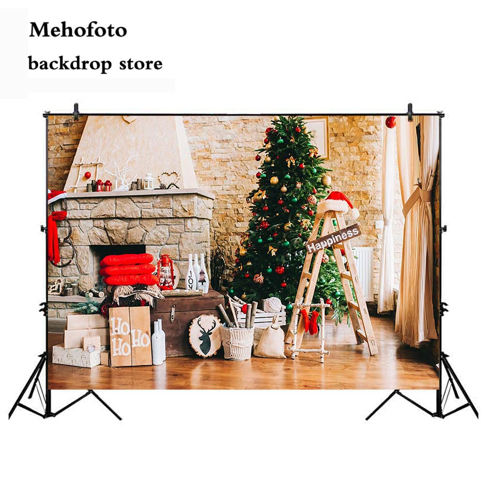Mehofoto Рождество фон для фотографии камин фото стенд фон видео семья Рождество тема вечерние украшения 151