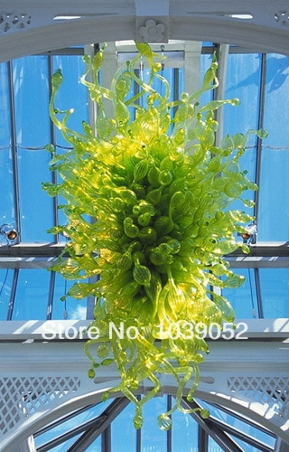 Lámpara de araña de cristal de Murano de artesanía de 100% de Hotel verde contemporánea