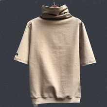 Femmes t-shirt col Mandarin manches longues et courtes couleur unie femmes blouse pour lhiver printemps et automne femmes coton t-shirt