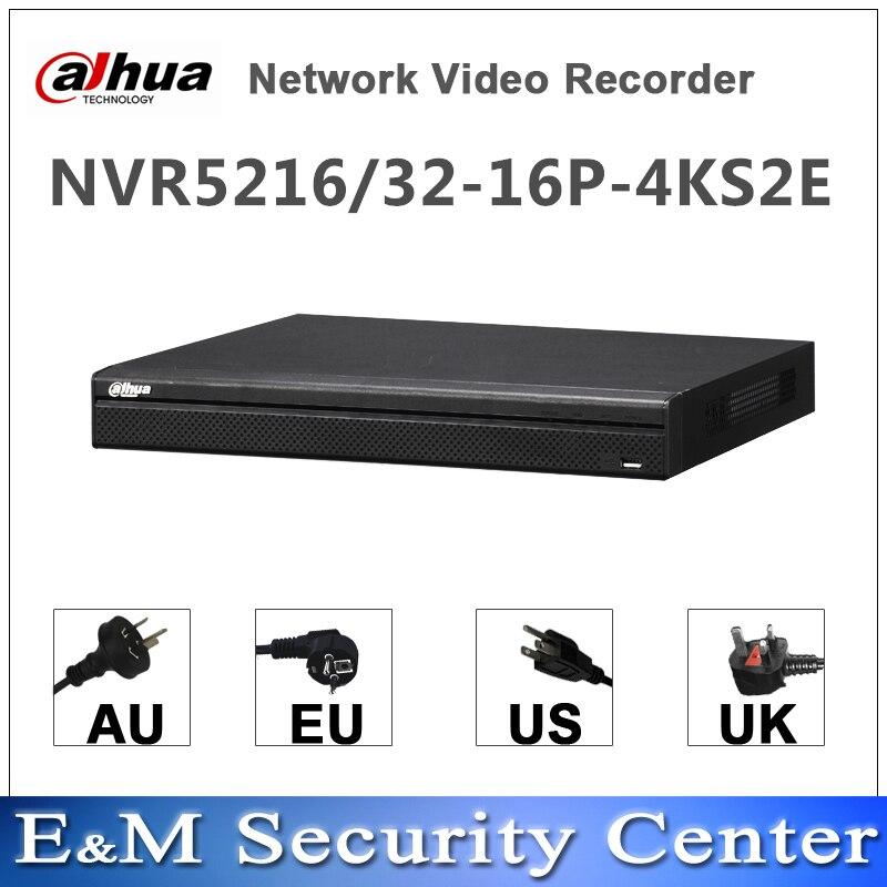 Original dahua NVR versión en inglés NVR5216-16P-4KS2E NVR5232-16P-4KS2E reemplazar NVR5216-16P-4KS2 NVR5232-16P-4KS2 16/32ch 16PoE