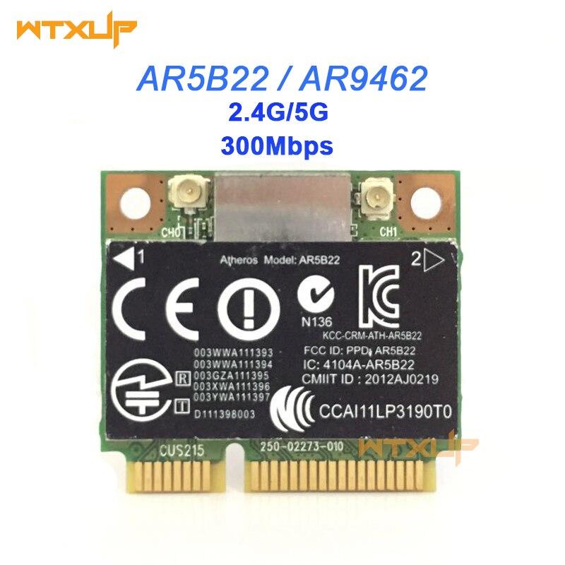 Atheros AR5B22 AR9462 300Mbps 802.11a/b/g/n Wlan כרטיס חצי מיני PCIE Wifi Bluetooth 4.0 רשת מתאם עבור Hp 2170p 9470m