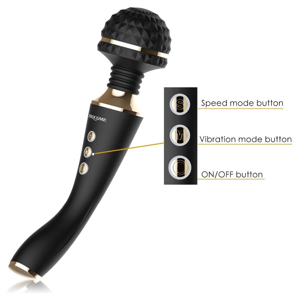 Мультискоростной перезаряжаемый вибратор AV в виде волшебной палочки секс-игрушки для женщин секс-Массаж G Spot вибраторы для женщин Секс маши...