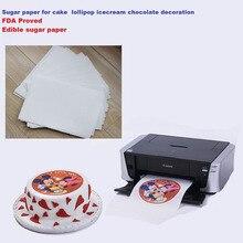 Papier de riz comestible A4 10 pièces/lot   Pour gâteaux sucettes glace chocolat, impression et décoration daliments
