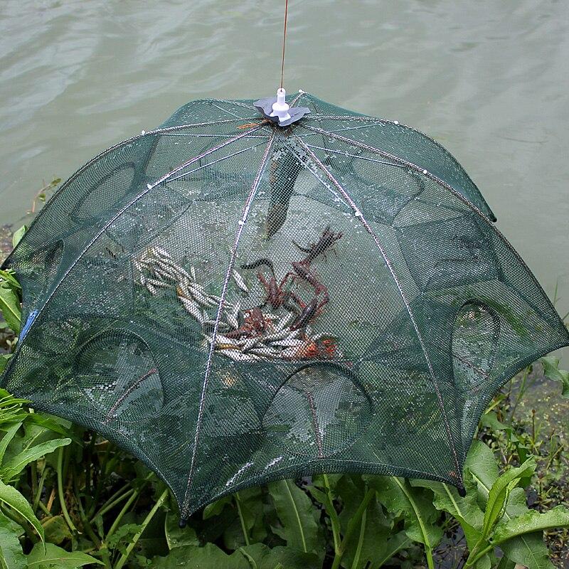 Nueva red de pesca automática, red de pesca plegable de Nylon, trampa para peces fundida, red de pesca plegable, envío gratis