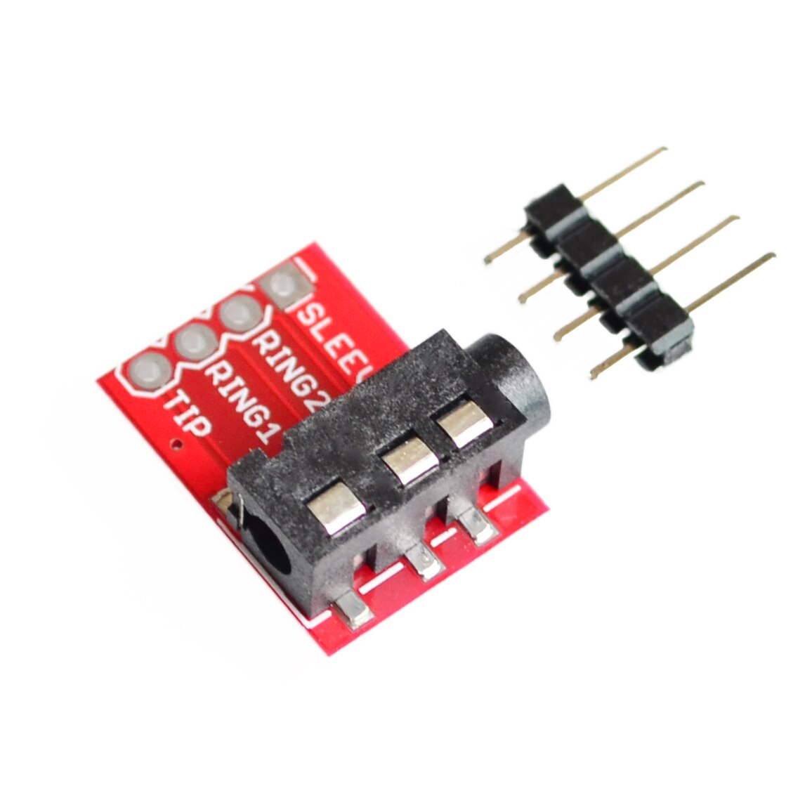 10 unids/lote TRRS 3,5mm auriculares estéreo MP3 audio video micrófono módulos de interfaz de bloque