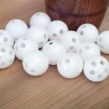 Réparation de billes de hochet jouet blanc   100 pièces 24mm remplacer la boîte pour le bruit de la poupée ours jouet de/pièces