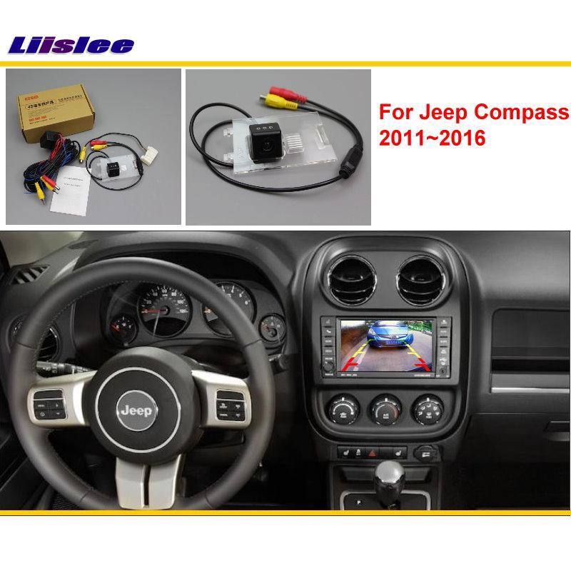 كاميرا الرؤية الخلفية للسيارة ، كاميرا وقوف السيارات متوافقة مع شاشة السيارة الأصلية لـ Jeep Compass 2011 ، 2012 ، 2013 ، 2014 ، 2015 ، 2016
