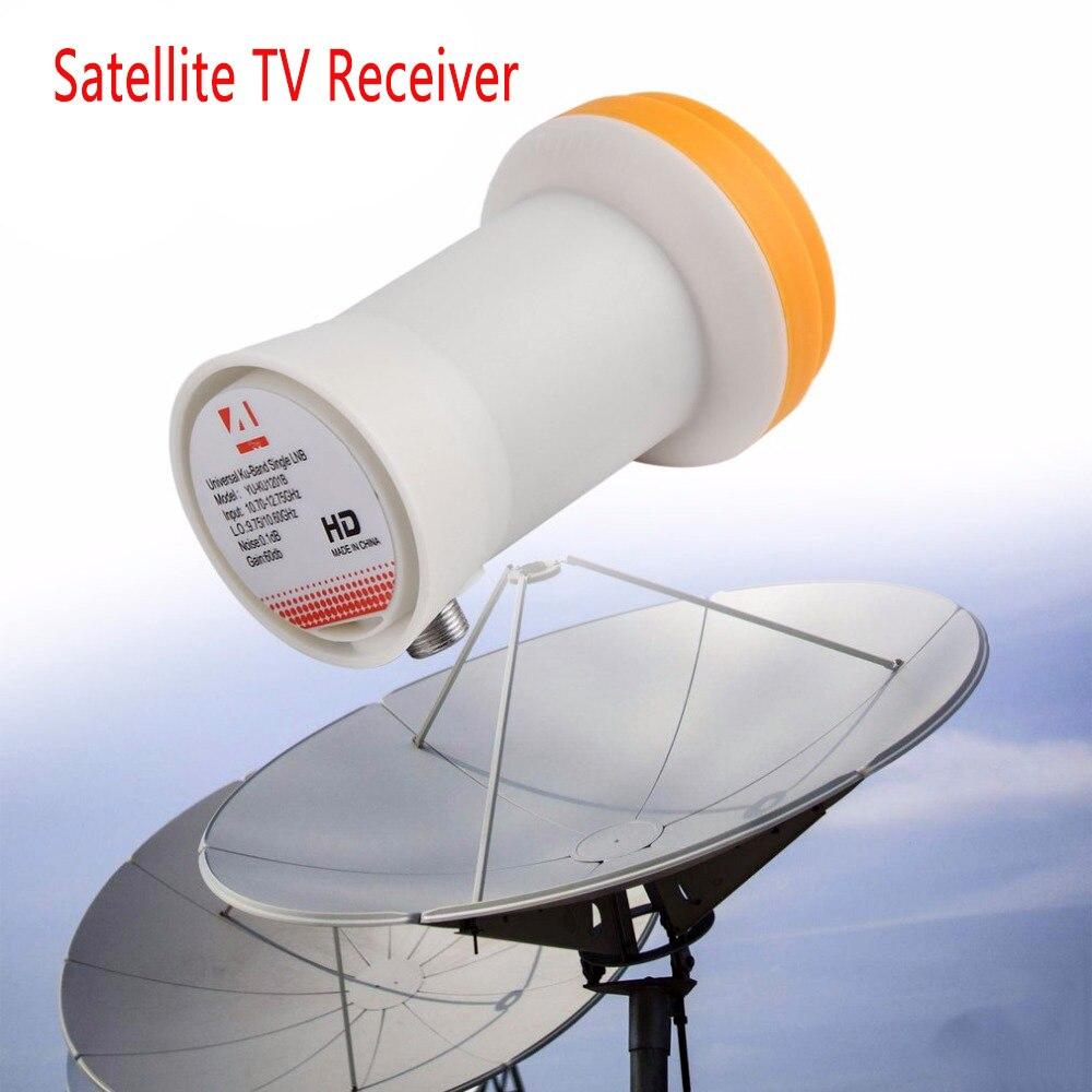Novo!! Completo hd digital KU-BAND universal único lnb satélite lnb receptor de tv por satélite lnb universal ku lnb 1 saída lnbf