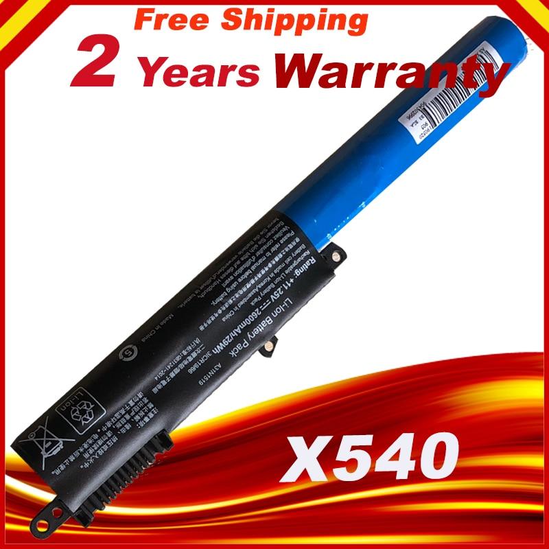 A31N1519 HSW 11.25 V 2600 mAh Da Bateria Do Portátil para ASUS X540s X540SA R540SA X540L Series transporte rápido