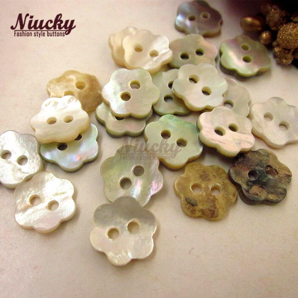 Niucky 11,3mm 18L 2 agujeros más grueso T3 clase flor Akoya shell camisa botones natural shell accesorios de costura S0104-006