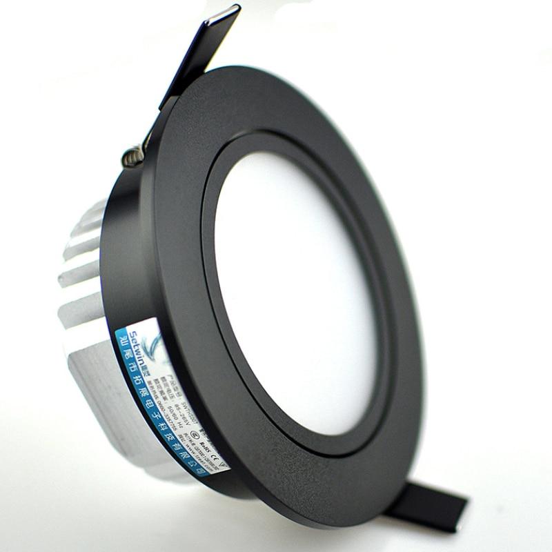 Диммируемый светодиодный светильник 3 Вт 5 Вт 7 Вт 10 Вт 12 Вт cob led spot 220 В/110 В потолочные встраиваемые светильники круглый светодиодный панельный светильник