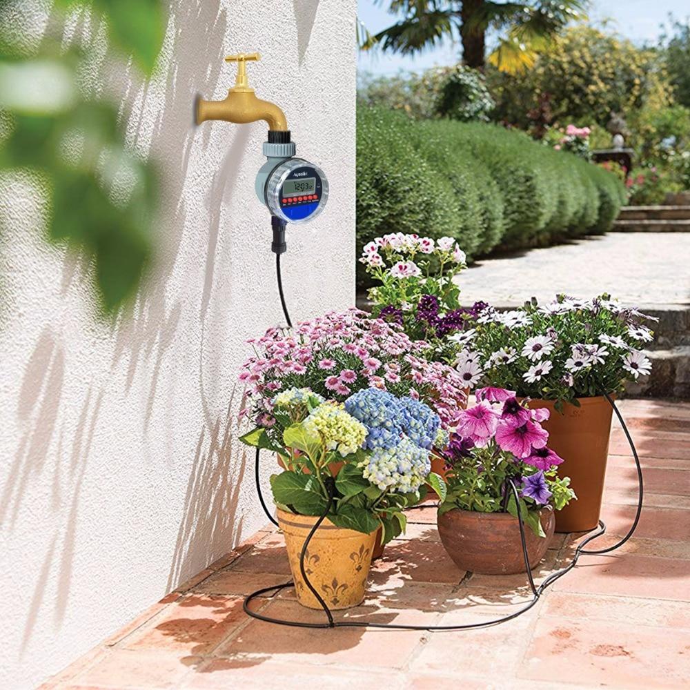Automatische LCD Display Bewässerung Timer Elektronische Home Garten Ball Ventil Wasser Timer Für Garten Bewässerung Controller #21026