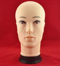 Male head mannequin jewelry model glass displaying dummy man plastic head displaying head