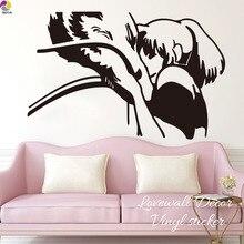 만화 치히로 떨어져 치히로 & 하쿠 벽 스티커 어린이 방 귀여운 드래곤 소녀 사랑 벽 데칼 거실 비닐 홈 장식 미술