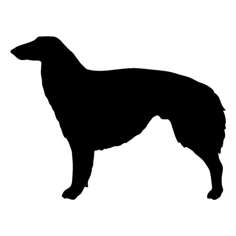 16.8*12.8 cm borzoi cão vinil decalque adesivos de carro estilo do carro à prova dwaterproof água pára decoração preto/prata S1-1210