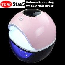 MICSUNLY STAR5 lampa led UV do paznokci lampy mody wysokiej jakości do paznokci LED suszarka do suszenia wszystkich żelów do paznokci manikiurzystka profesjonalny paznokci światła led