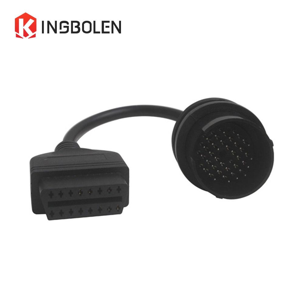 Para benz 38Pin a 16pin OBD2 OBDII cable 38 pin a obd 16 pin conector de herramienta de diagnóstico para Mercedes 38Pin A 16pin