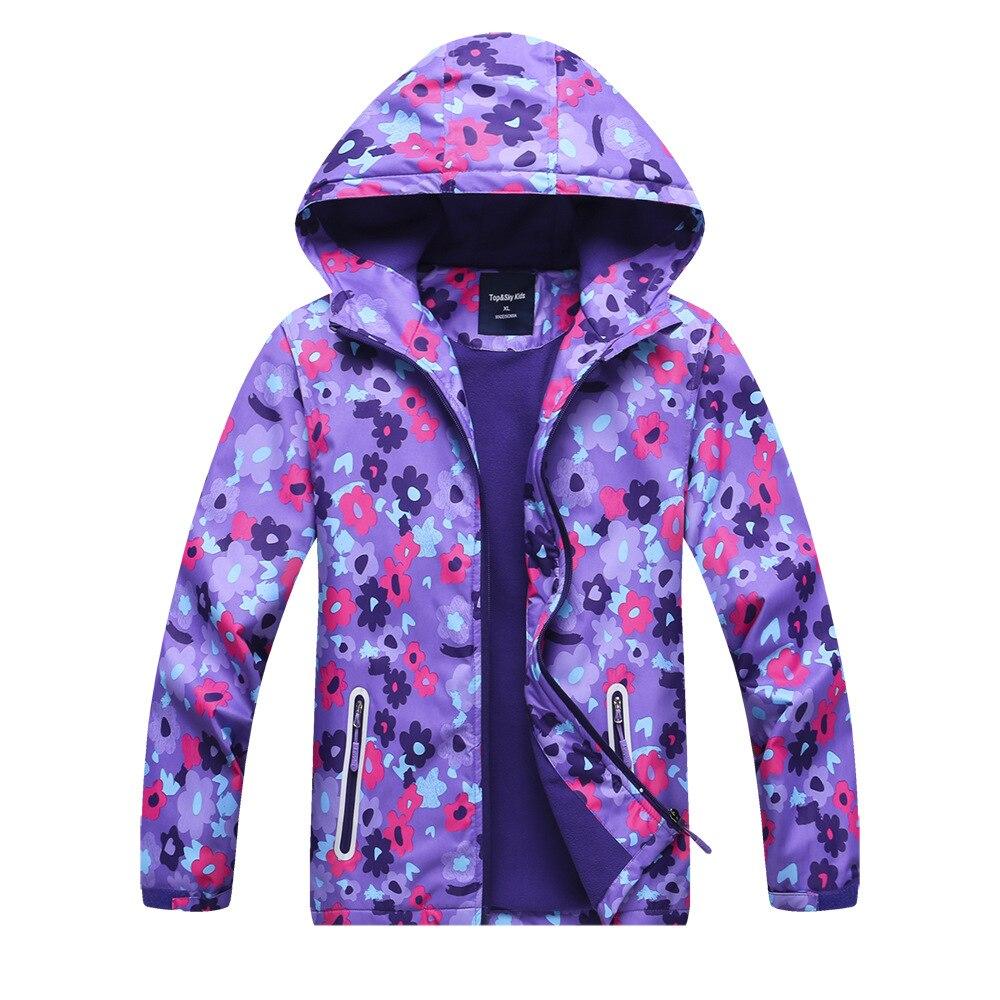 Ropa de senderismo para niñas de color caramelo, artículos para el pecho, ropa de senderismo para niños oriónica, chaqueta de asalto con estampado de flores
