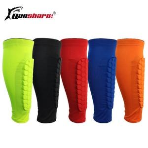 Professional Football Shin Guards Protector Soccer Honeycomb Compression Anti-crash Leg Calf Sleeves Running Leg Warmer