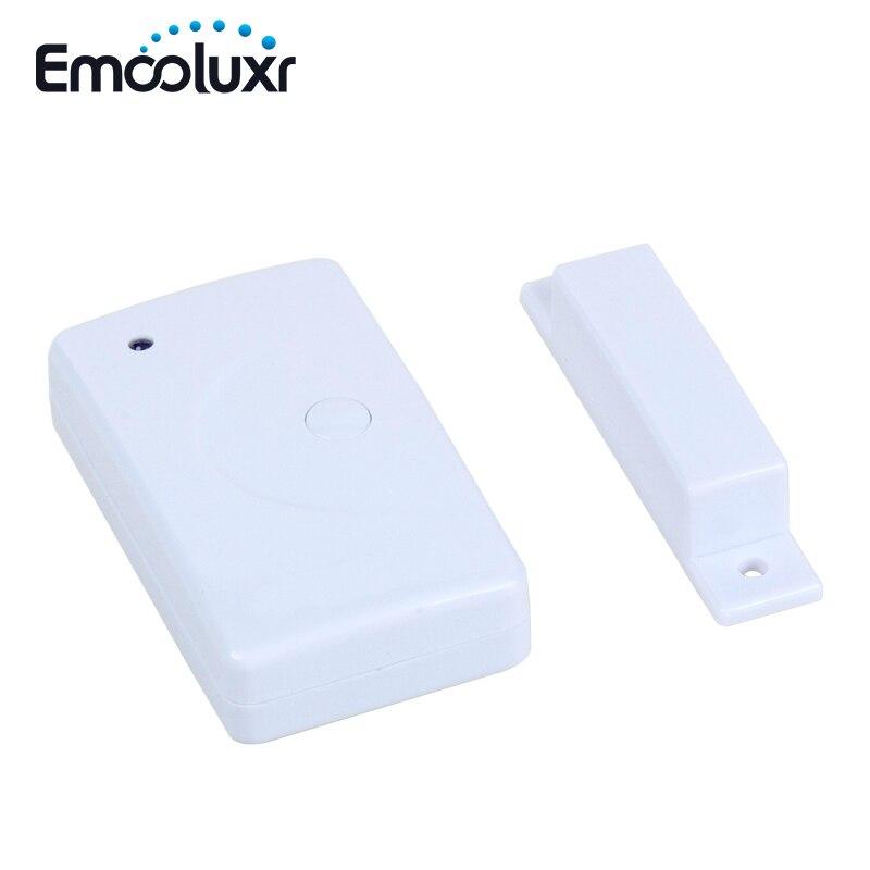 4 pces 433 mhz pt2262 porta janela sensor detector bateria operado sem fio da porta contato para gsm pstn wifi sistemas de alarme
