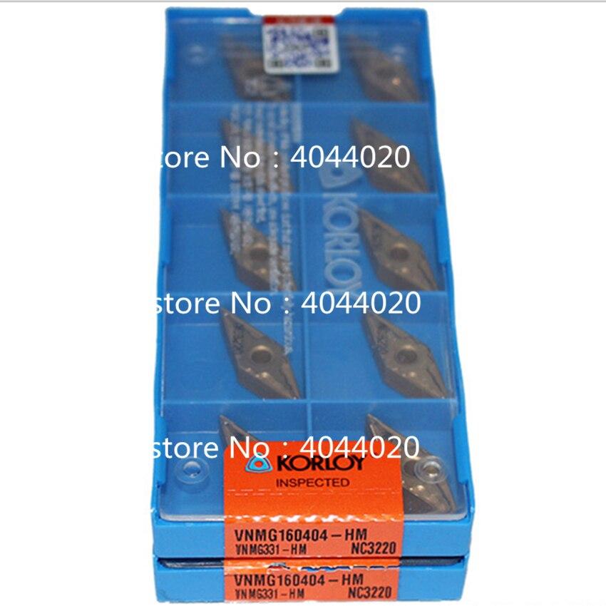KORLOY  VNMG160404-HM NC3220  VNMG331-HM NC3220  10pcs Quality goods New original