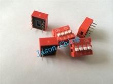 Interrupteur de trempage 4 P 4 positions   100mm pas 2 rangée 8 broches, interrupteur de trempage coulissant 2.54 pièces