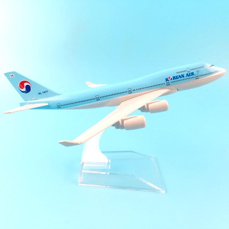 16 cm coreano ar 747 liga de metal modelo avião aeronaves modelo brinquedos avião coleção presente crianças brinquedos