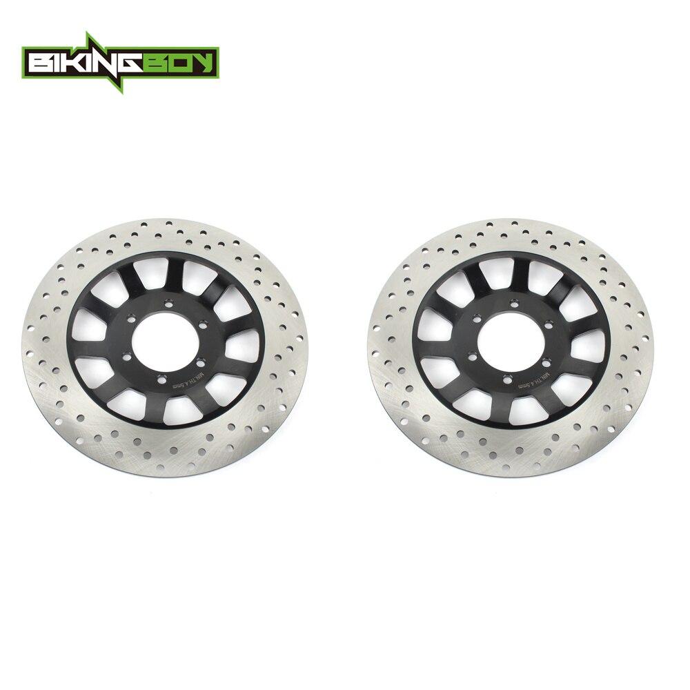 Bikingboy discos de freio dianteiro discos rotores para yamaha rd 350 lc rz 350 xs 400 se xj 550 650 750 xv 920 1000 81 82 83 84 85 round