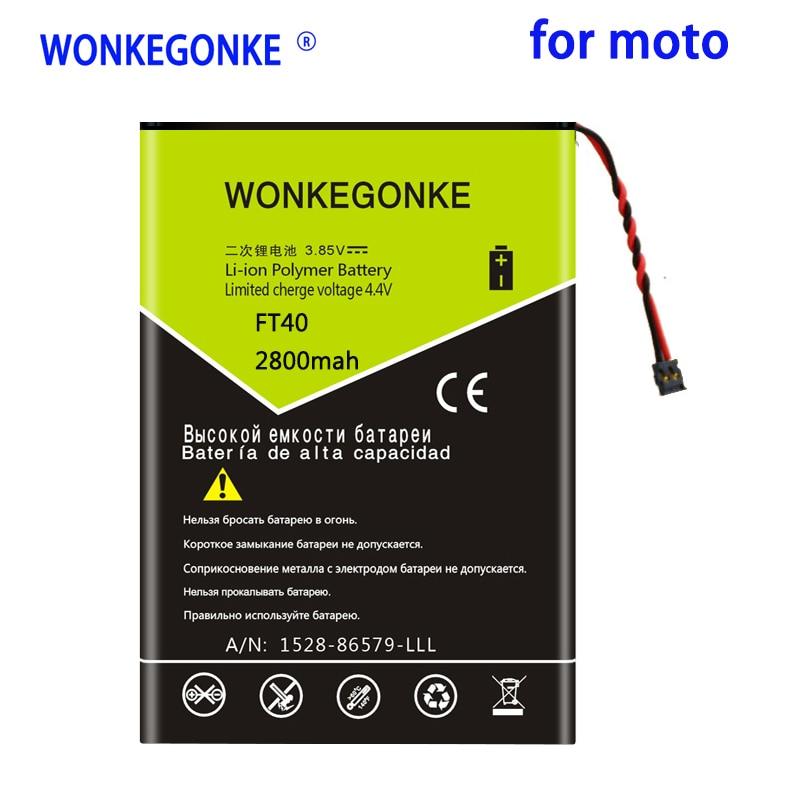 WONKEGONKE 2800mah FT40 de la batería para Motorola Moto XT1526 XT1528 XT1063...