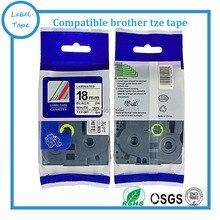 3 pcs 18mm tze241 tze 241 tze-241 Brother Laminated Label Ptouch tz Tapes tz 241 tz241 tz-241