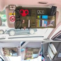 Tactical Multi-pocket Visor Panel Car Sun Visor Organizer CD Bag Auto Accessories For MOLLE Travel Kits