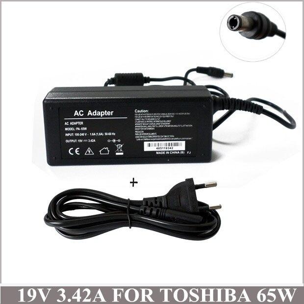 19V 65W portátil Cargadores Portatiles adaptador de CA para Toshiba Satellite C645 C650 C655 A665 A665D L670 L745 L745D PA3714U-1ACA