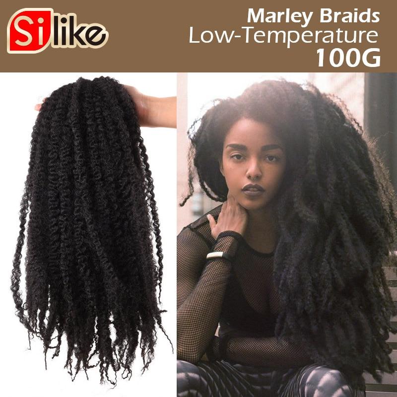 Crochet Marley Braids 10 Colors Soft Afro Marley Twist  Hair 18 inch Crotchet Synthetic Braiding Hair