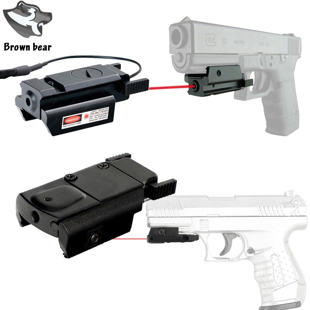 С креплением Пикатинни Красная точка лазерный прицел для тактического пистолета Gl 17 19 20 21 22 23 30 31 40 45 9 мм XDM XD