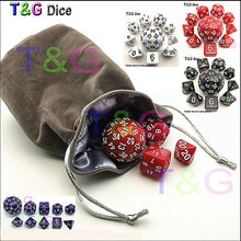 Nova 10 pçs/set Acrílico d4 d6 d8 d12 2xd10 d16 d20 d24 d30 d60 4 Cortam o Jogo Preto Vermelho Amarelo Branco Cores jogo de tabuleiro jogo de RPG com saco