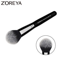 ZOREYA marque impeccable visage brosse Super haute qualité fibre cheveux noir manche en bois poudre Blush bronzant brosses pour dames