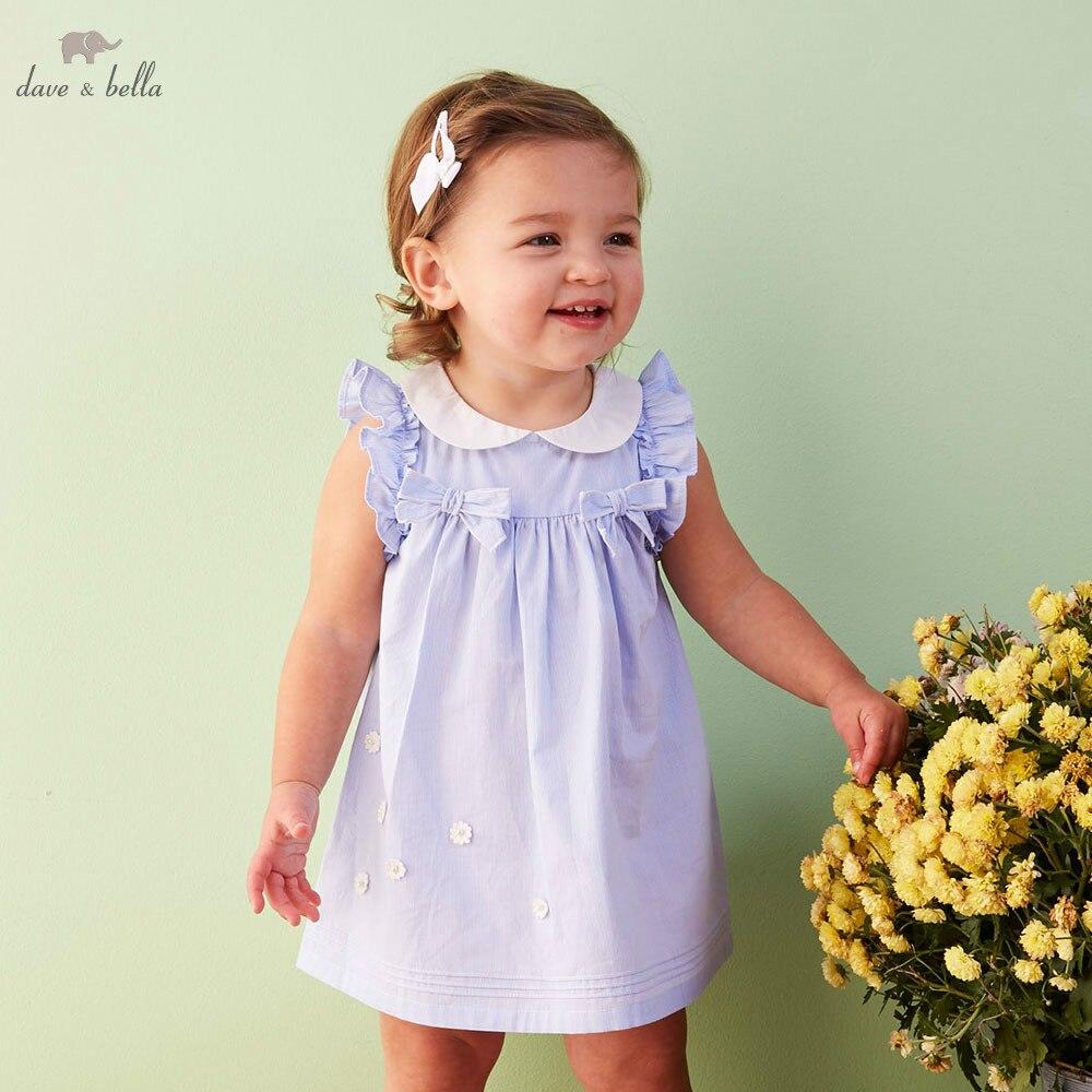 DB5057 davebella Летнее нарядное платье для девочек, эксклюзивная одежда принцессы для маленьких девочек, милое платье для девочек Платья для девочек    АлиЭкспресс