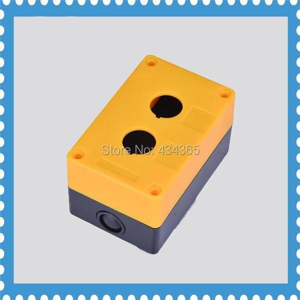 Пластиковая коробка для управления станцией 2 отверстия 22 мм переключатель