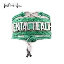 Petit MingLou infini amour espoir charme santé mentale bracelet conscience médicale hommes bracelets & bracelets pour femmes bijoux
