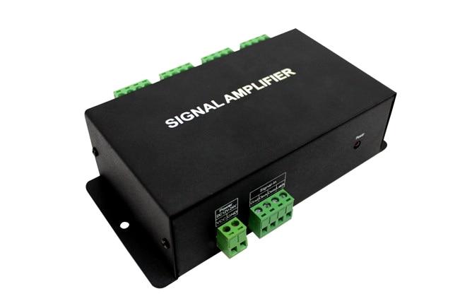 HC800 8Channels Output Dream color Signal led Amplifier;DC12-24V input;8 output SPI signal; L140*W70