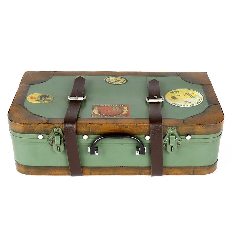 Retro Nostalgia maleta República de China caja de hojalata Estudio de tiro Props Bar tienda decoración de la ventana ornamentos
