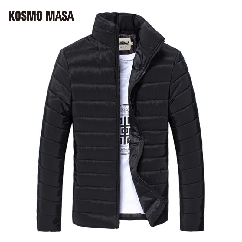 KOSMO MASA 2017 Cotton Light Jacket Parka For Men Spring Autumn Thin Casual Windproof Jackets Coat Mens 3XL Down Parkas MP018