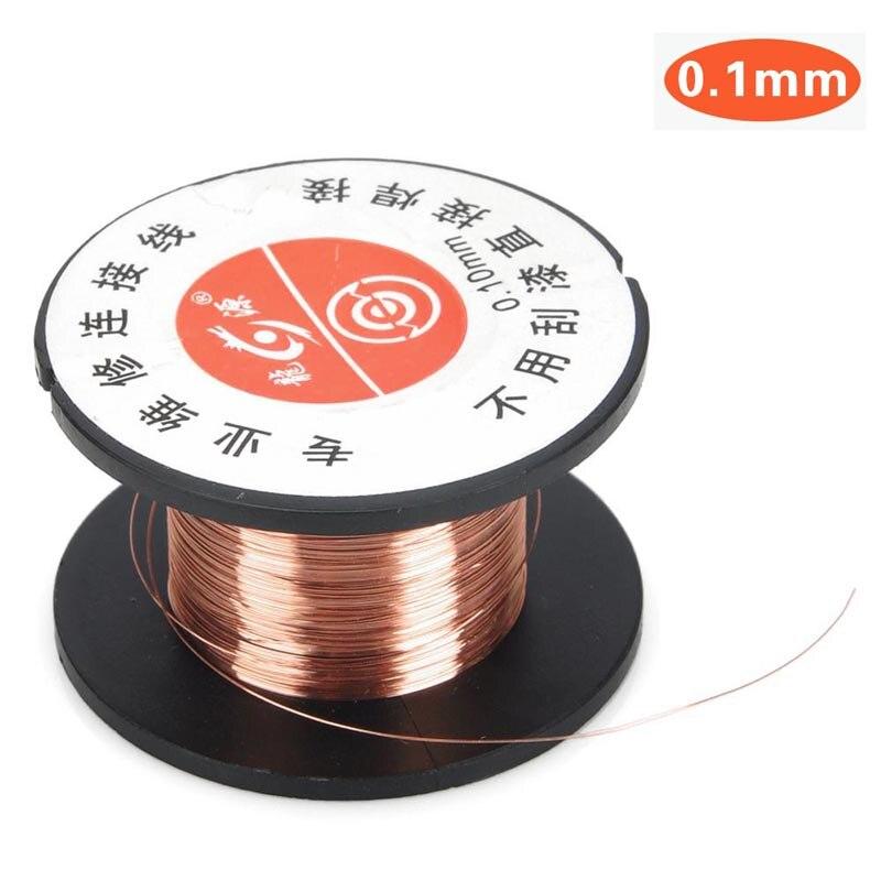 (4 rollos/paquete) 0,1mm alambre de soldadura de cobre de salto de línea Cable de conexión PCB soldadura herramienta de reparación de alambre esmaltado